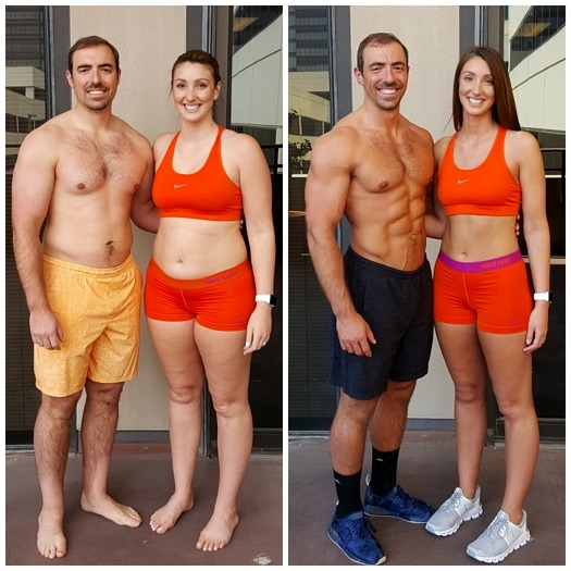 Caleb and Christine's couples personal training Dallas at AFS Premier Fitness