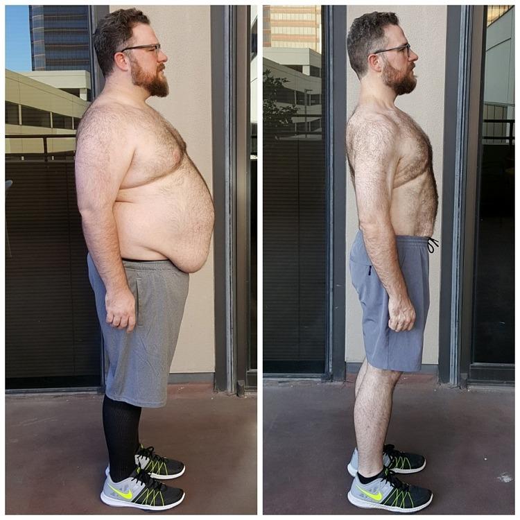 Jack's side body transformations Dallas AFS Premier Fitness